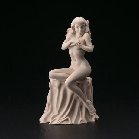 """dead stock / Bettie Page statue """"Wow!"""" by D. Stevens and S. Kiwus"""
