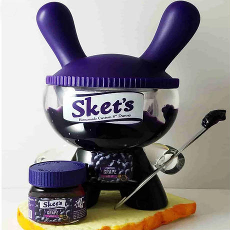 "Concord Grape Jelly 8"" Dunny by Sket-One (2017)"