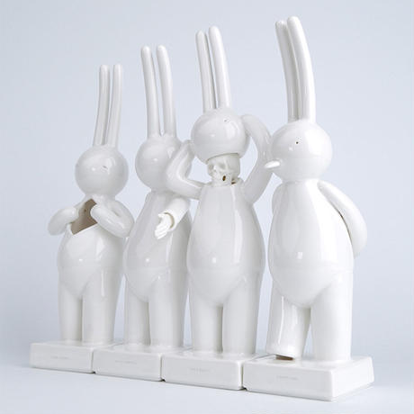 PRE-ORDER: mr clement porcelain sculpture set of 4