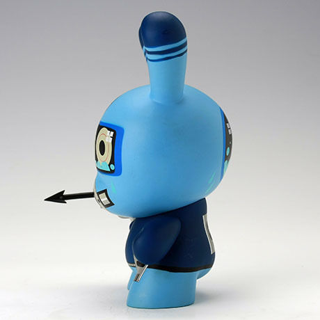 "Diver Blue 8"" Dunny by Dalek"