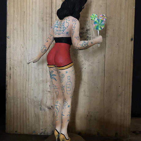 Pin up Mouseketeer art toy sculpture by Quyen Dinh