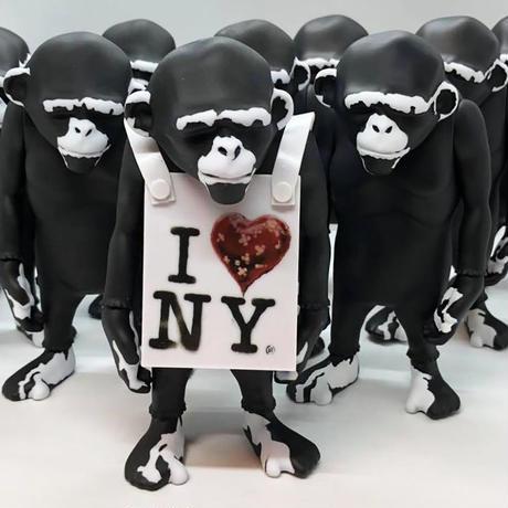 Banksy's Laugh Now custom painted version