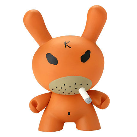 "Hate - Orange 8"" Dunny by Frank Kozik"