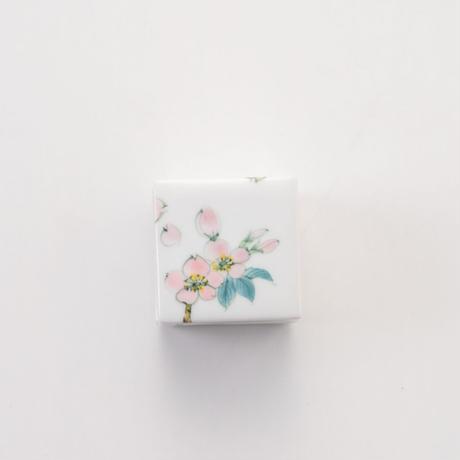 桜ミニ角蓋物
