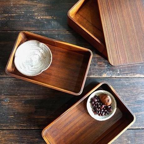 漆の3段重箱(うづくり) 杉の木クラフト