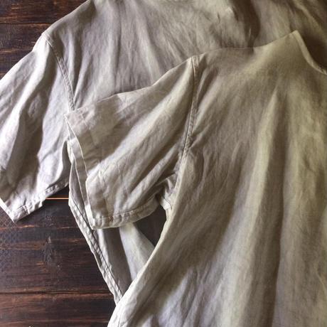 墨染めリネンTシャツブラウス