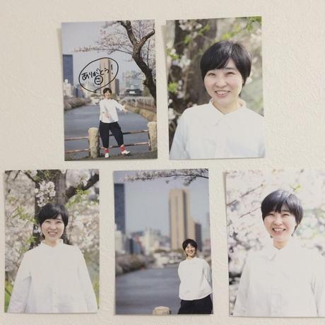 智子さんポストカード5枚組 (1枚サイン付き)