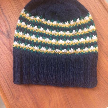 ハンドメイド ニット帽