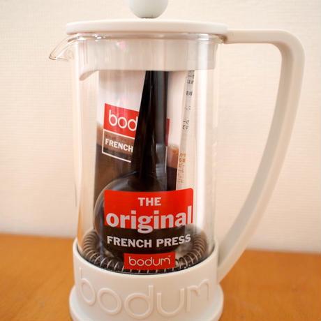 BODUM BRAZIL フレンチプレスコーヒーホワイト0.35L