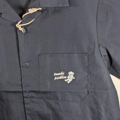 開襟ワークシャツ ダークネイビー