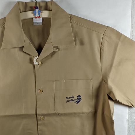 開襟ワークシャツ モカベージュ