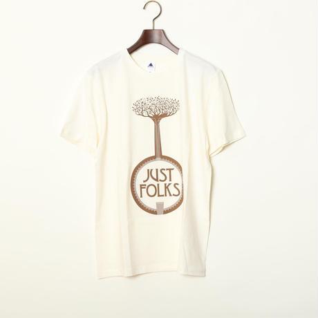 """高田漣 """"Just Folks"""" T-Shirts ナチュラル"""