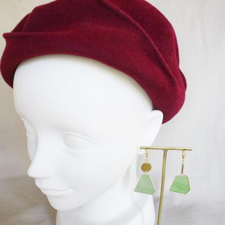 ゆらゆらピアス(金具変更可能タイプ)Glass and Brass swing earrings