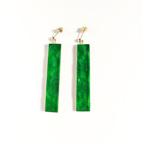 色ガラスのスティックピアス/イヤリング Glass stick earrings