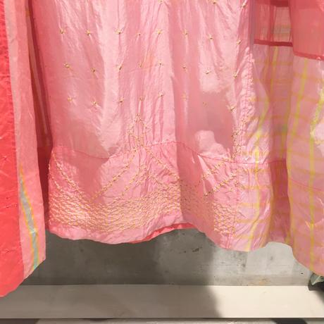 injiriコットンシルクドレス/Lサイズ