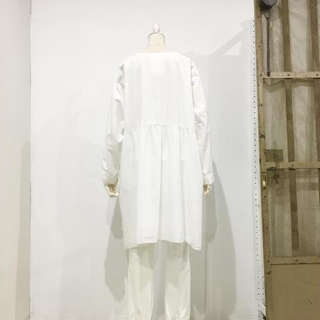 Lady'sコットンシャツチュニック(ホワイト)/HannohWessel/40