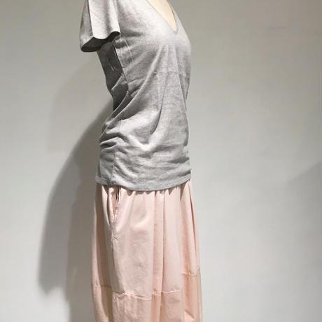 デラックスコットン/VネックTシャツ/ライトグレー