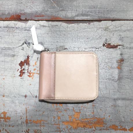 SAGAN二つ折り財布/ベージュ&ベージュ