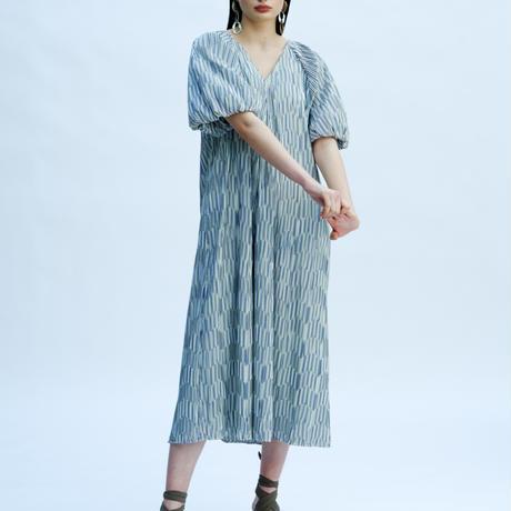 TEIJA/ドレス/コットンストライプ・プリーツ