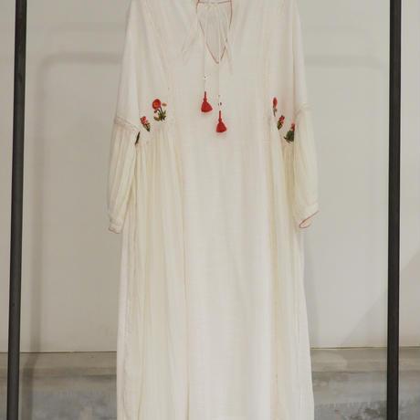 ETTA Selection シルク100%ハンド刺繍/ドレス/ホワイト