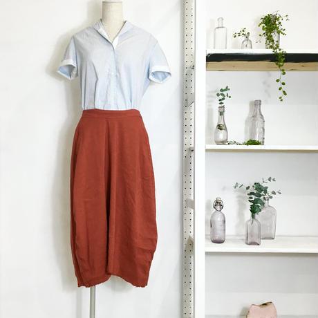 Lady'sリネンシルク・コクーンスカート(スカーレット)/HannohWessel 36