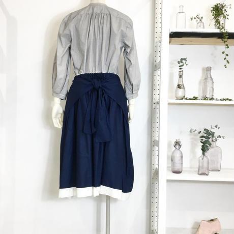 Lady'sコットンスカート(ネイビー)/HannohWessel 36