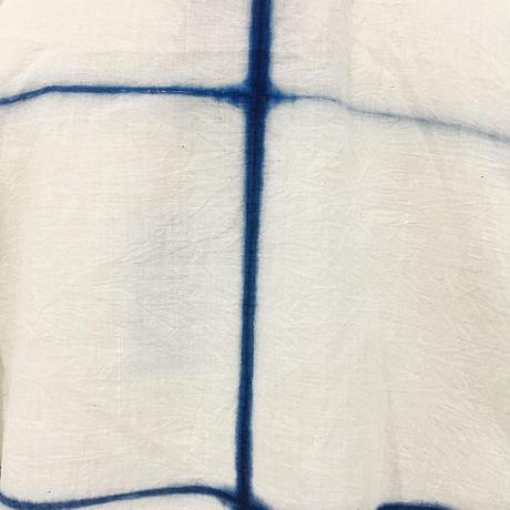 injiri-本藍染絞りトップス/ インディゴ/E2268