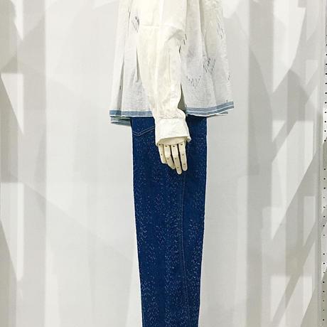 injiri-ボウタイ付カーディガン/ ホワイトベース/E2273