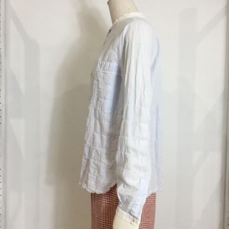 Lady'sコットン長袖シャツ(ブルーストライプ)/HannohWessel/38