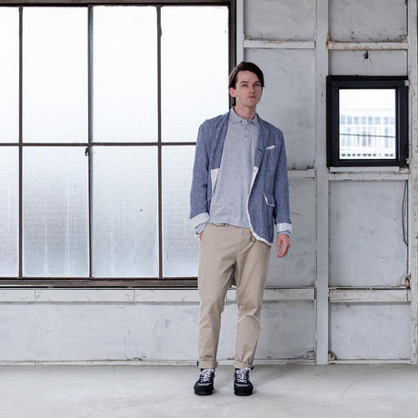 Men'sリネンジャケット/HannohWessel/48サイズ