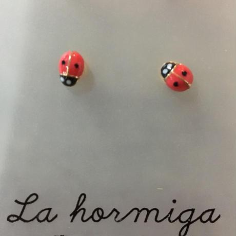 La Hormigaピアス/Opium レッド ミニ
