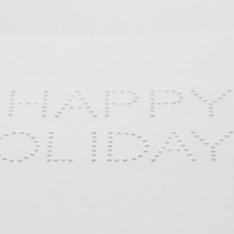 dot メッセージカード HAPPY HOLIDAYS!