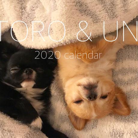【送料無料】2020年『TORO&UNI』壁掛けカレンダー