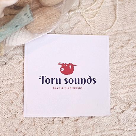 【ステッカー】「Toru sounds / sloth ロゴステッカー」/  ナマケモノ / stc001