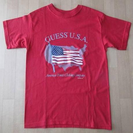 90's USA製 GUESS U.S.A. 星条旗 Tシャツ M ゲスHIP HOP RAP ダンス XS S【deg】