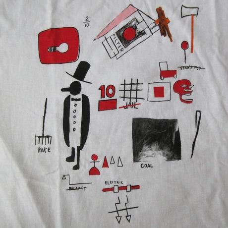 00's ジャン=ミシェル・バスキア FOTOFOLIO J.D.Card Tシャツ M Jean-Michel Basquiat アンディ ウォーホルAndy Warhol芸術【deg】