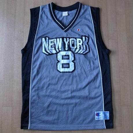 CHAMPION 復刻 NEW YORK・バスケットボール ユニフォーム L USA チャンピオン【deg】
