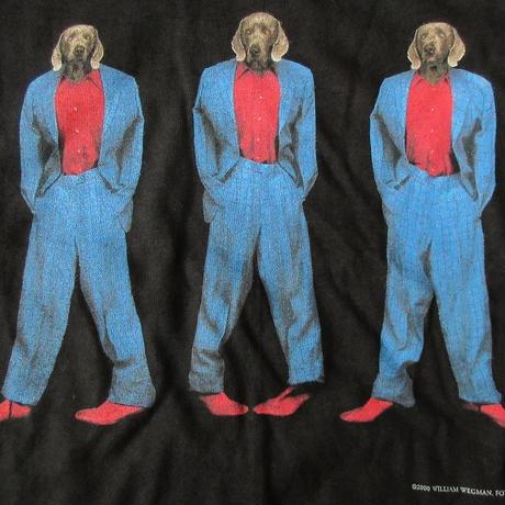 William Wegman FOTOFOLIO This way フォト Tシャツ M ブラック ワイマナラー犬 ウィリアム ウェッグマン 写真 ART芸術 現代美術 美術館【deg】