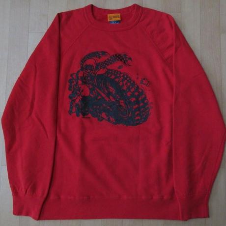USA製 One's Garment GOOD ON バイカー ラグラン フリーダム スリーブ スウェット M レッド系 グッドオン トレーナー MADE IN GOODON【deg】