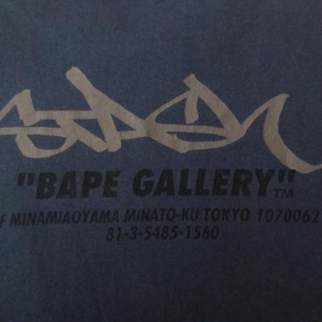 日本製 A BATHING APE BAPE GALLERY 2002 STASH展 Tシャツ L ア ベイシング エイプ ベイプ ギャラリー スタッシュ SUBWARE 芸術 ART【deg】