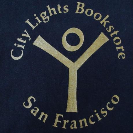 City Lights Bookstore ロゴ Tシャツ S 黒 シティ ライツ ブック ストア ビートニク Allen Ginsberg アレン ギンズバーグ