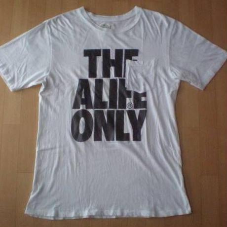 alife THE ALIFE ONLY ポケット付き TシャツL白 ホワイト コットン100% エーライフ メッセージ ポケット 半袖 カットソー スケートボード【deg】