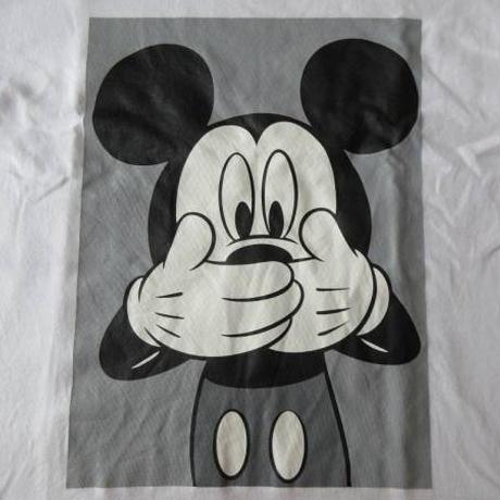 スペリオール ミッキーマウス コラボ 両面プリント入り Tシャツ S 白 ホワイト Disney ディズニー Superior Mickey Mouse 半袖 カットソー【deg】