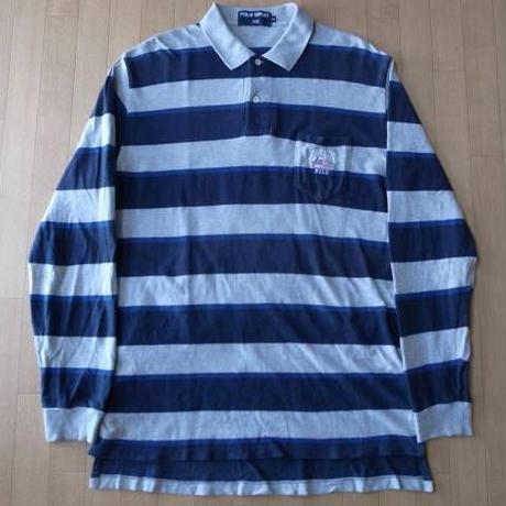 90's POLO SPORT USA 星条旗 ボーダー ポロシャツ RALPH LAUREN ポロ ラルフローレン【deg】