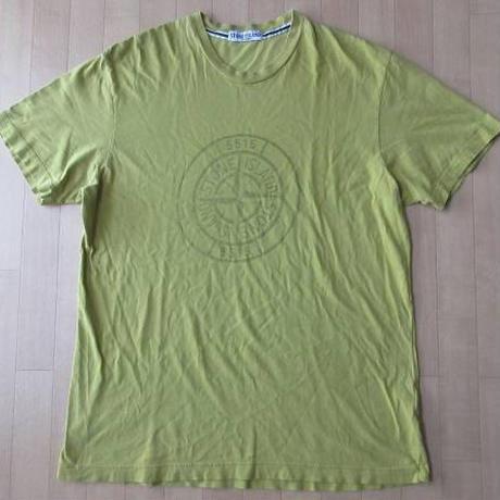 STONE ISLAND ロゴ Tシャツ XXL カーキ マスタード オリーブ系 ストーンアイランド アウトドア キャンプ ビッグシルエット オーバーサイズ【deg】
