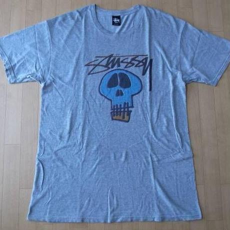 ステューシー STUSSY ストックロゴ スカル 半袖 Tシャツ L【deg】