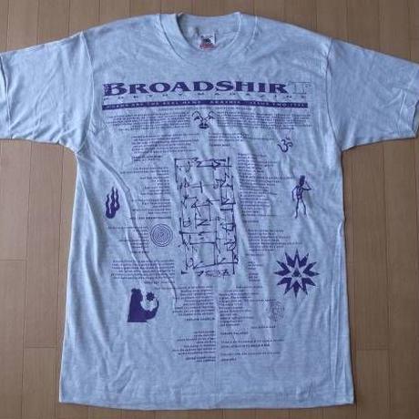 90's USA製 BROADSHIRT POETRY MAGAZINE 1995 Tシャツ M ポエトリー マガジン ビートニク beatnik Allen Ginsberg【deg】