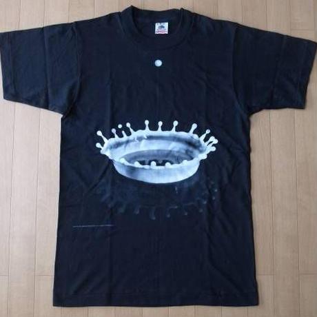 90's USA製 ハロルド エジャートン Milk Drop Coronet Tシャツ S 黒 Harold Edgerton ミルククラウン フォトFOTOFOLIO美術館【deg】