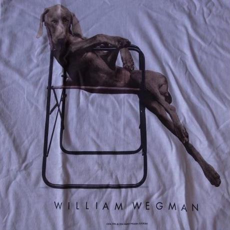 90's William Wegman Weimaraner LOLITA フォト Tシャツ M 白 ウィリアム ウェッグマン FOTOFOLIO ワイマナラー犬 ART 芸術【deg】