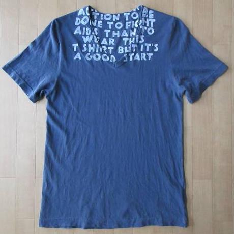 チュニジア製 Maison Martin Margiela AIDS T-shirts エイズ Vネック Tシャツ S メゾン マルタン マルジェラ カットソー 芸術 ART【deg】